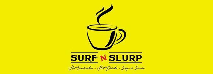 logo for Surf n Slurp internet cafe in Dewsbury