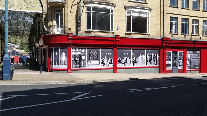 photo of the old Principal pub with new decals in Dewsbury