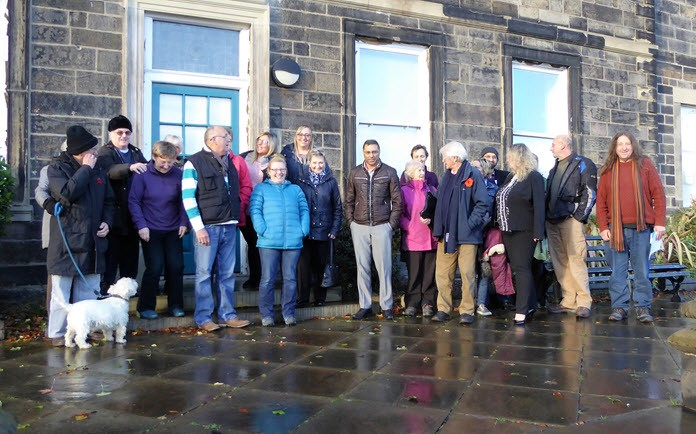 photo of Dewsbury residents at the launch of Friends of Dewsbury Park Mansion