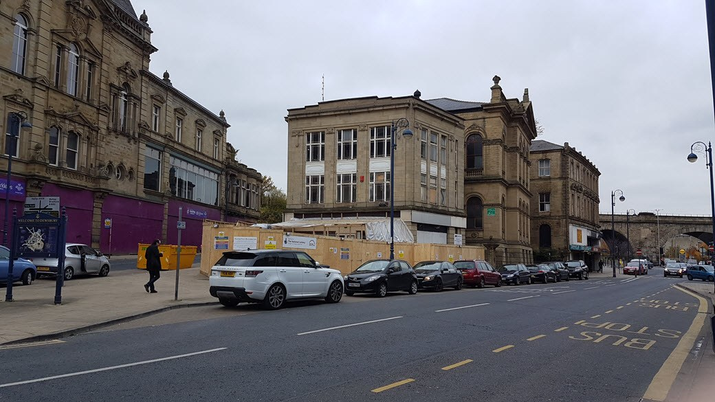 photo of the old gas showrooms, Dewsbury during refurbishment