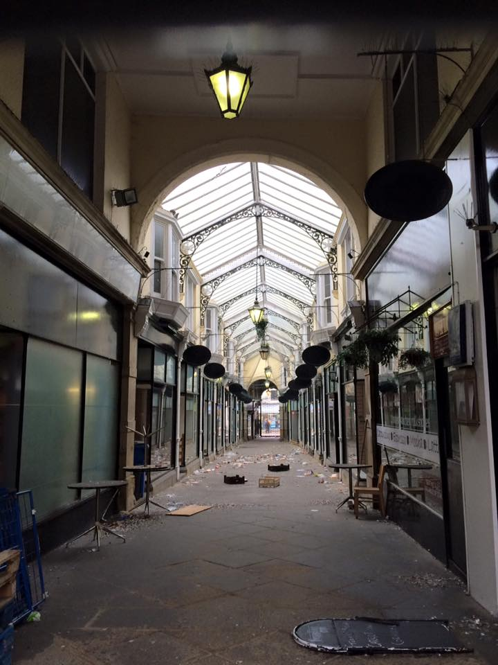 photo of the neglected Arcade in Dewsbury