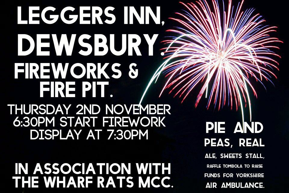 poster for Dewsbury Fireworks event