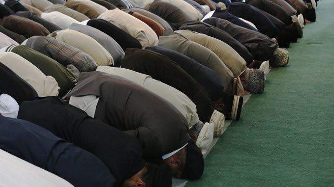 image of muslims at prayer