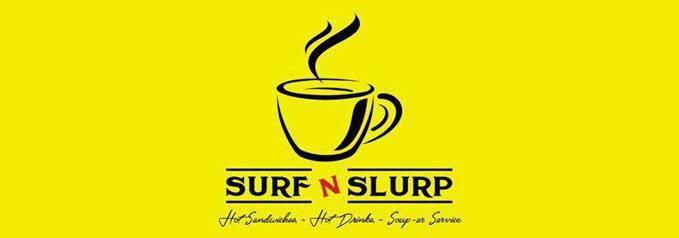 logo for Surf n Slurp internet cafe in Dewsbury