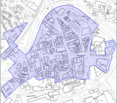 map of Dewsbury Conservation Area