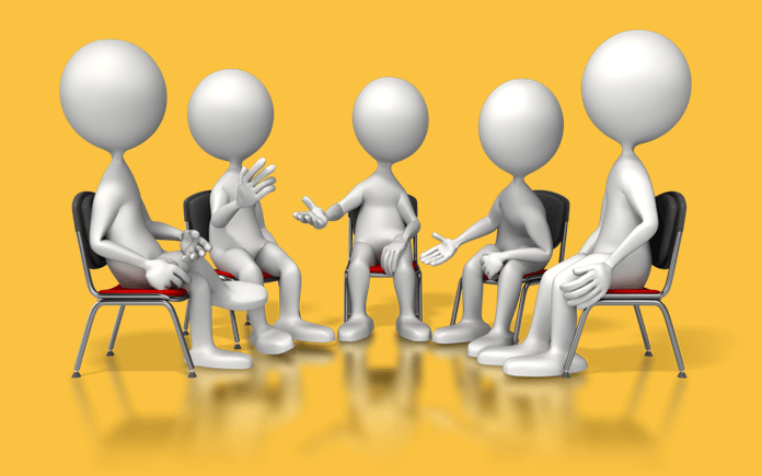 image of a meeting