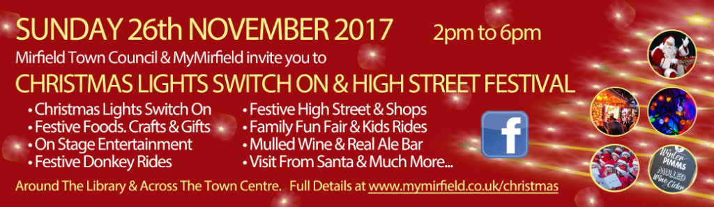 poster for Mirfield Christmas Lights switch on