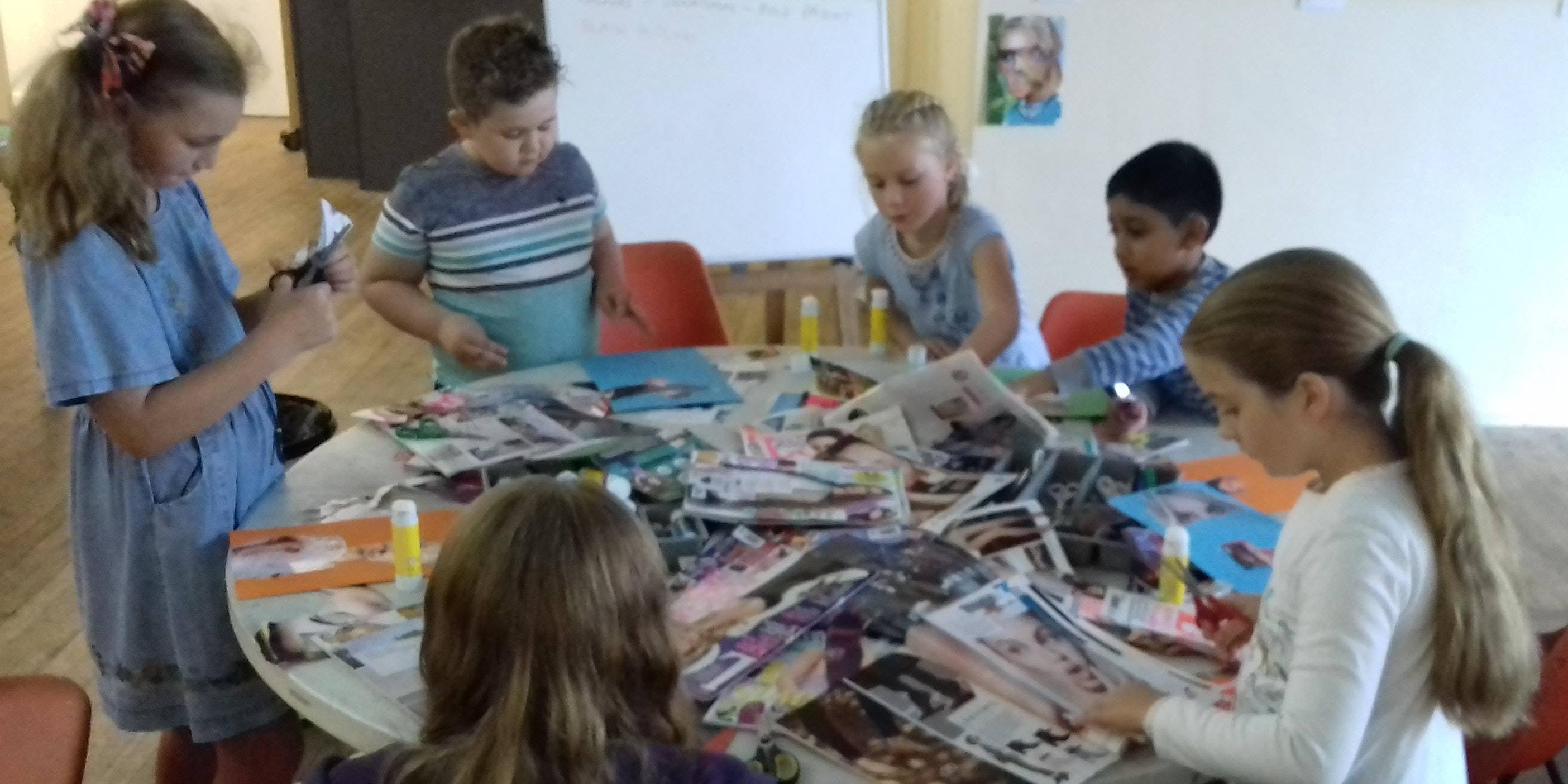 photo of children at Saturday Arts Club in Mirfield