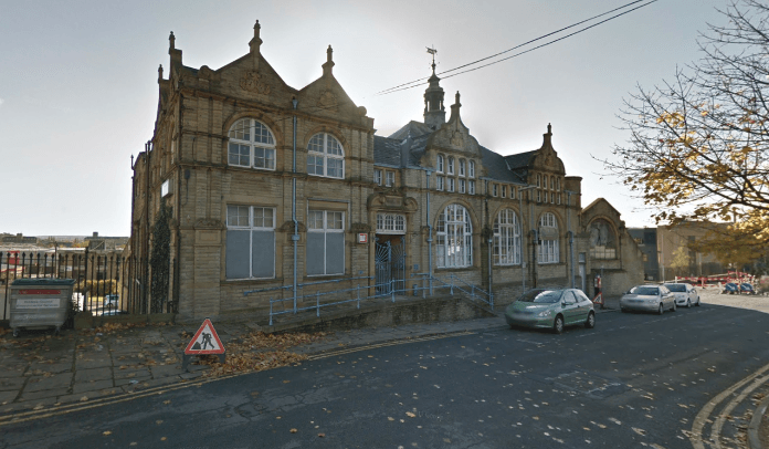 picture of the old Public Library in Dewsbury