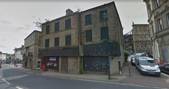 photo of the former Coop Funeral Parlour in Dewsbury