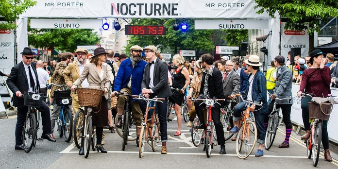 picture of cyclists at Rapha Nocturne 2017