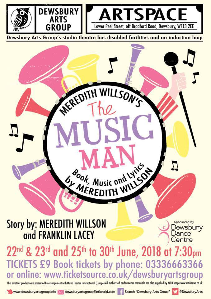 poster for The Music Man theatrical production