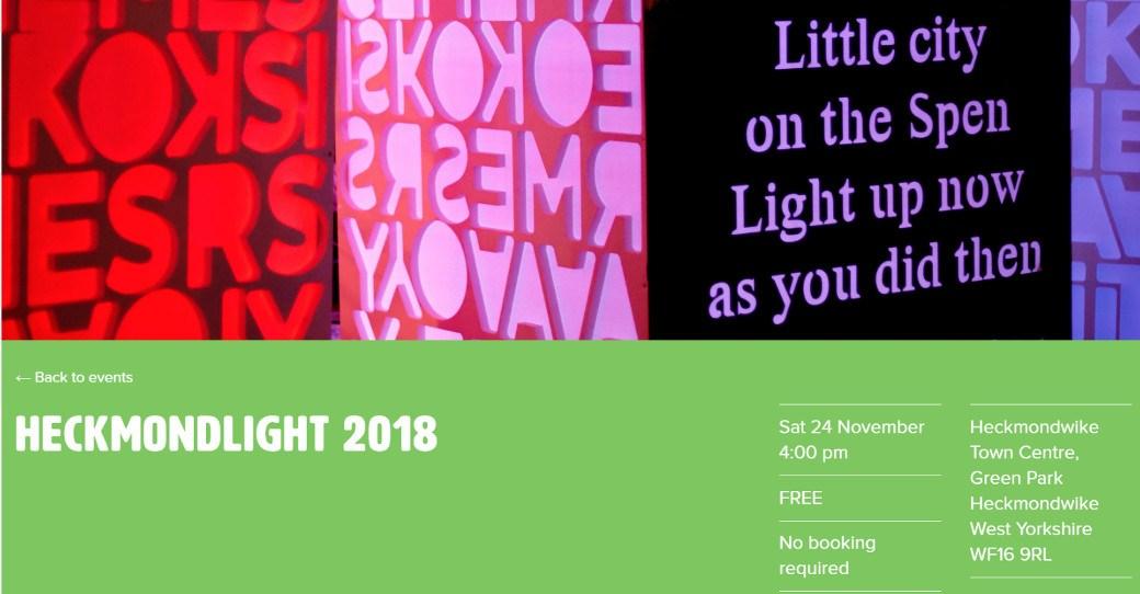 poster for Heckmondlight event