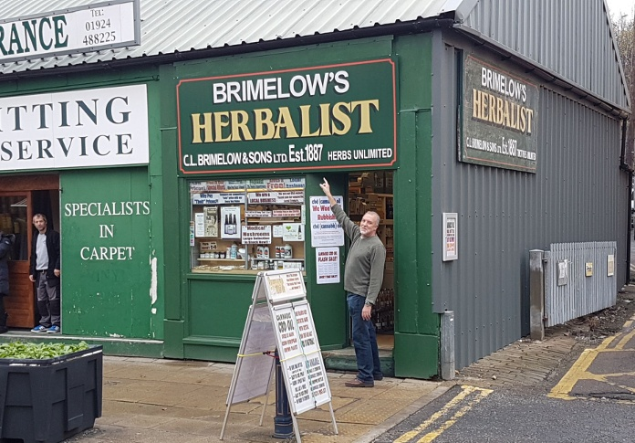 photo of Brimelows Herbalist new shop sign