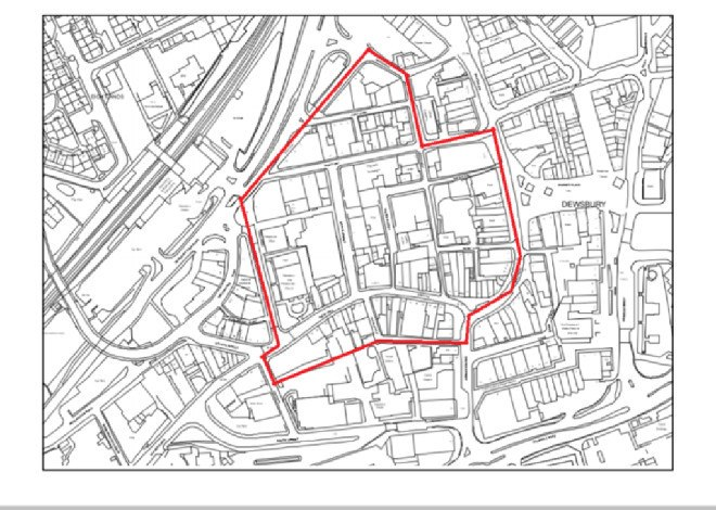 map of Dewsbury Heritage Action Zone