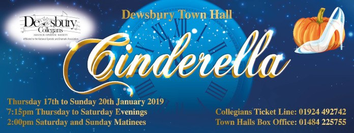 poster for Cinderalla panto in Dewsbury