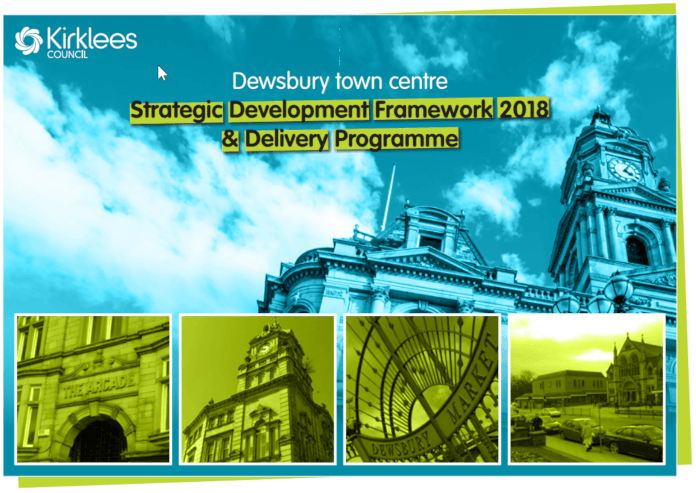 image of front cover of Dewsbury Strategic Development Framework 2018