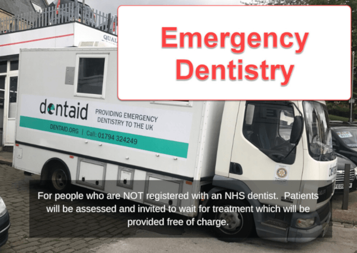 Photo of Dentaid emergency dentistry van in Dewsbury